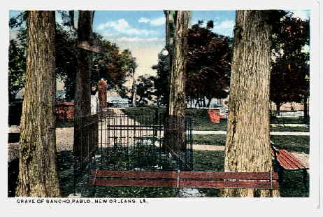 1910 postcard - Spanish Fort grave of Sancho Pablo