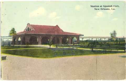 1910 - Railroad Station at Spanish Fort