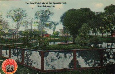 1912 Gold Fish Pond at Spanish Fort