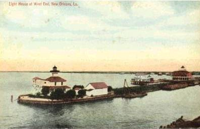 1915 New Canal Light damaged by hurricane