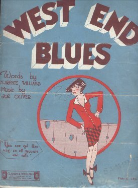 1928 - West End Blues Sheet Music Cover