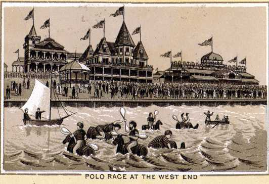 1880s - Water Polo at West End