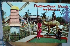 1960s MINIATURE GOLF COURSE  postcard