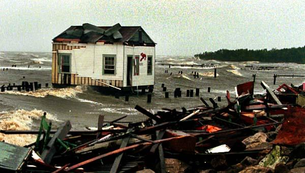 1998 - During Hurricane Georges, the center of the camp survives
