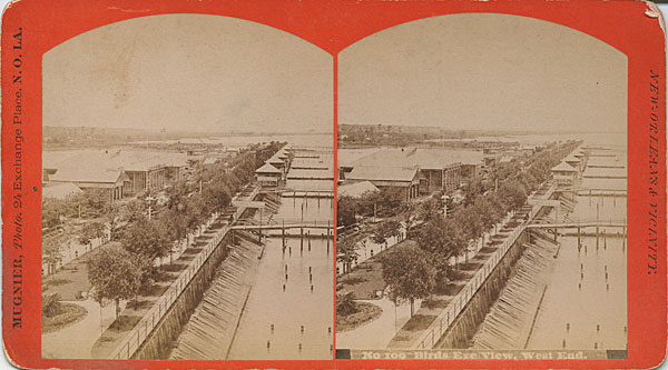 1880s Bird's Eye View- New Basin Canal at West End
